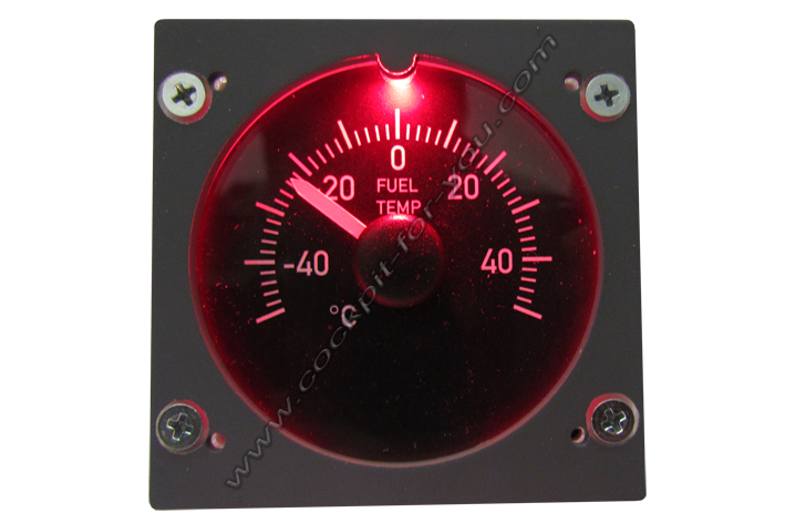 Boeing 737 Gauge OVH Fuel_Temperature S4
