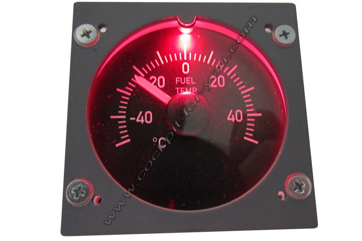 Boeing 737 Gauge OVH Fuel_Temperature S5