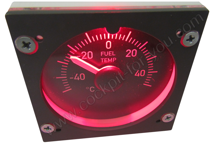 Boeing 737 Gauge OVH Fuel_Temperature S7