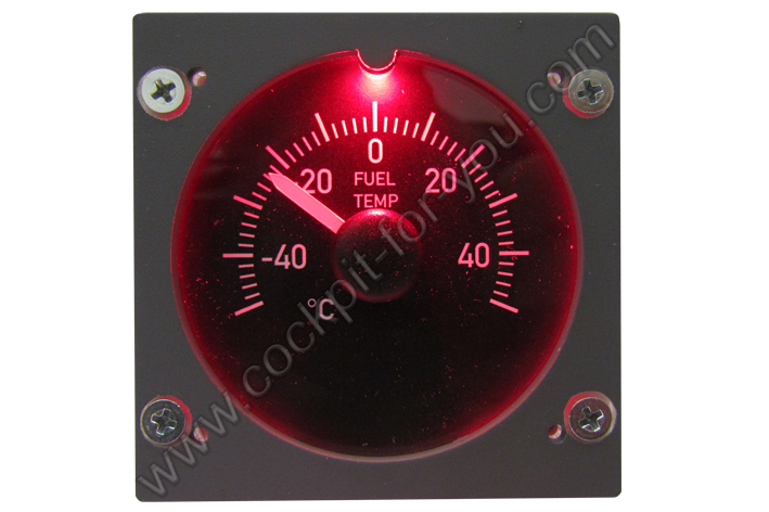 Boeing 737 Gauge OVH Fuel_Temperature S8